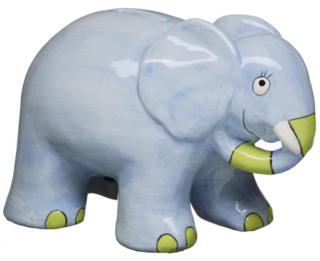 Children's elephant design of piggy bank for Mique of Sweden