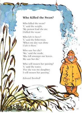Children's book illustration Who killed the Swan for Oxford University Press