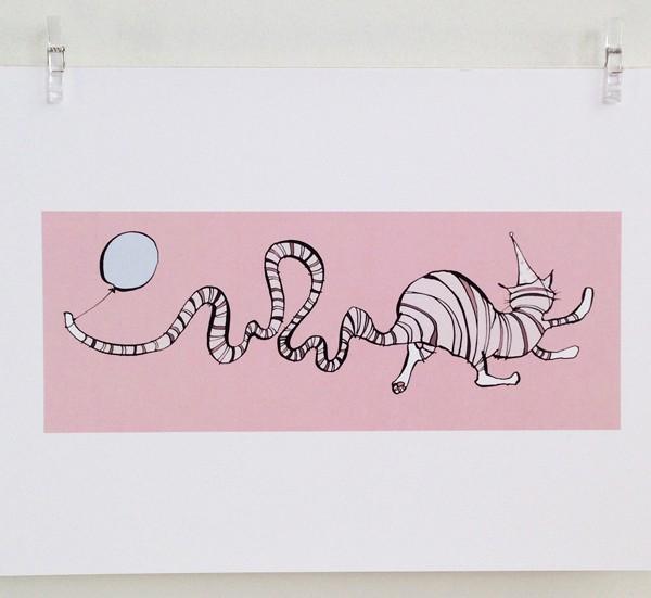 Birthday Cat print