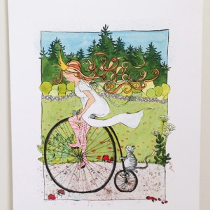 Cycling Princess print