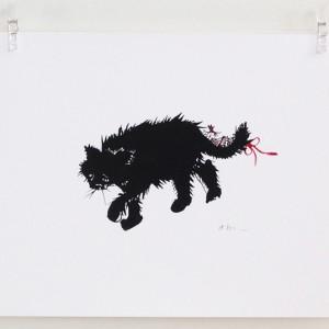 Walking Cat print